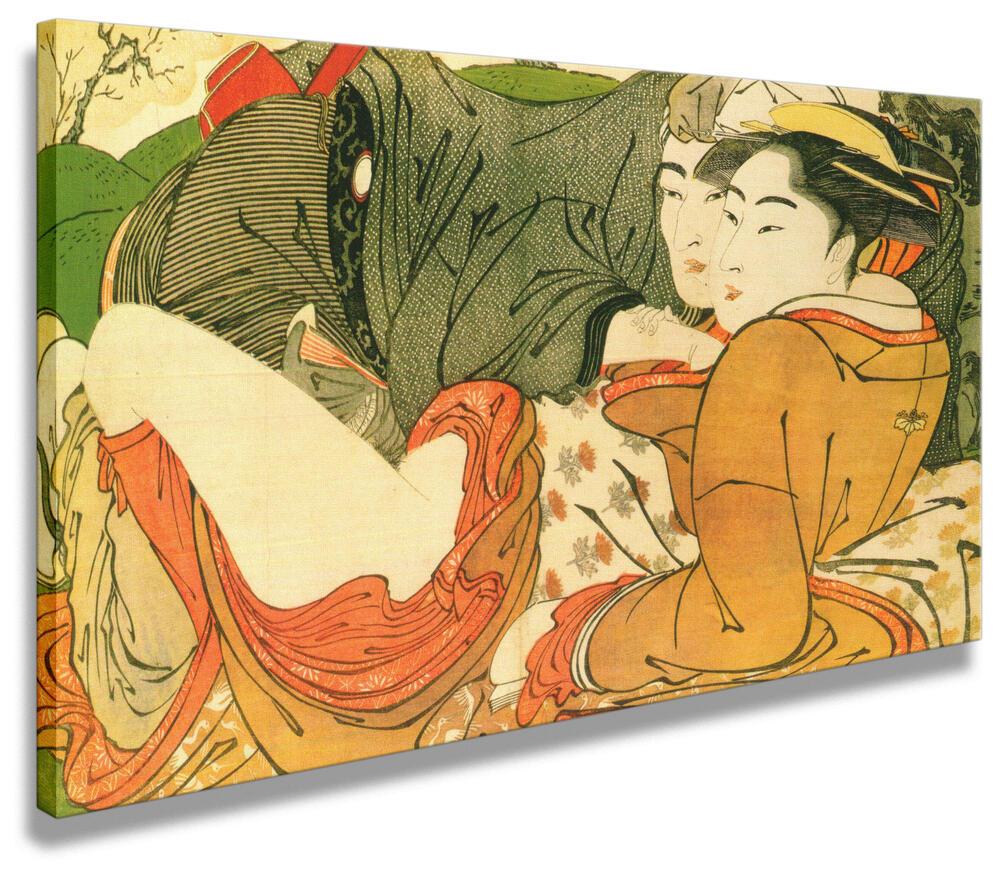 Il Canto Del Guanciale 1788 Utamaro Riproduzioni Di Quadri Famosi Artenor
